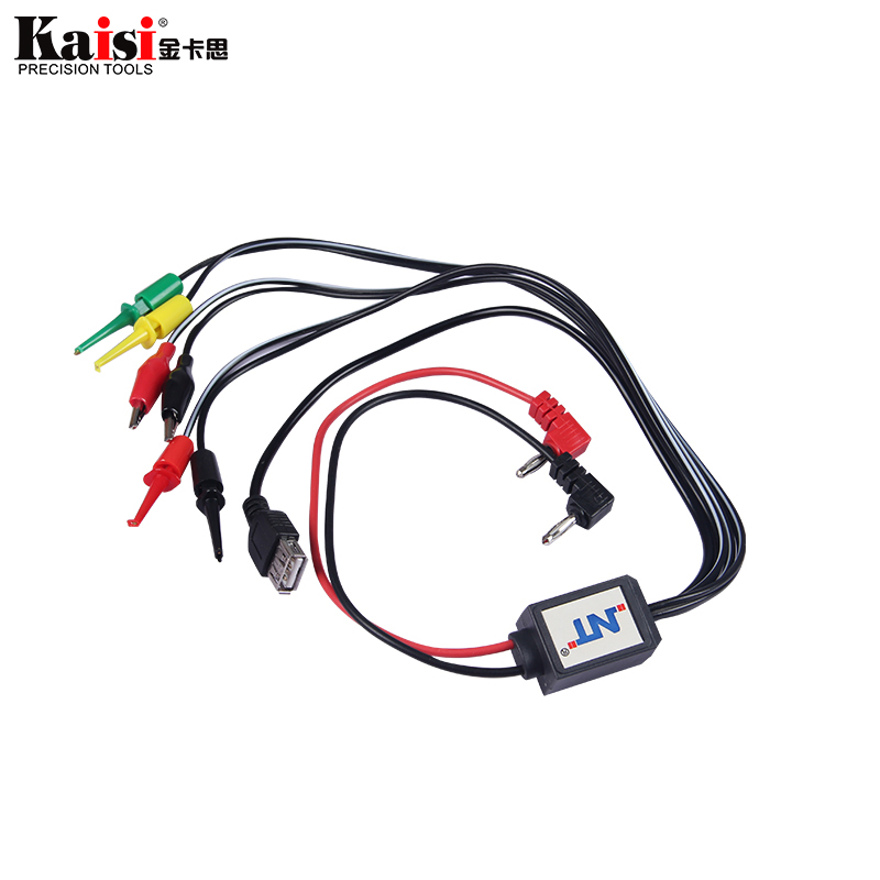 Mobile Phone Repair Tools Power Data Cable For IPhone Sony Samsung DC Power Supply Phone Current Test Cable With USB Output
