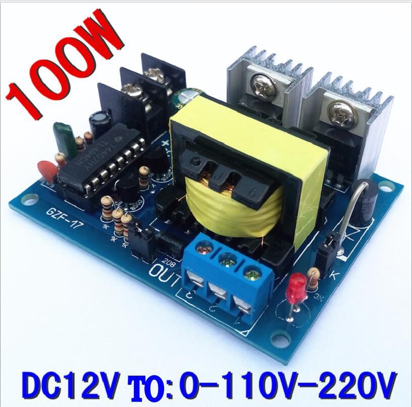 tl494 100w 12v to 0 110 220v micro inverter 12v to dual 110v step up