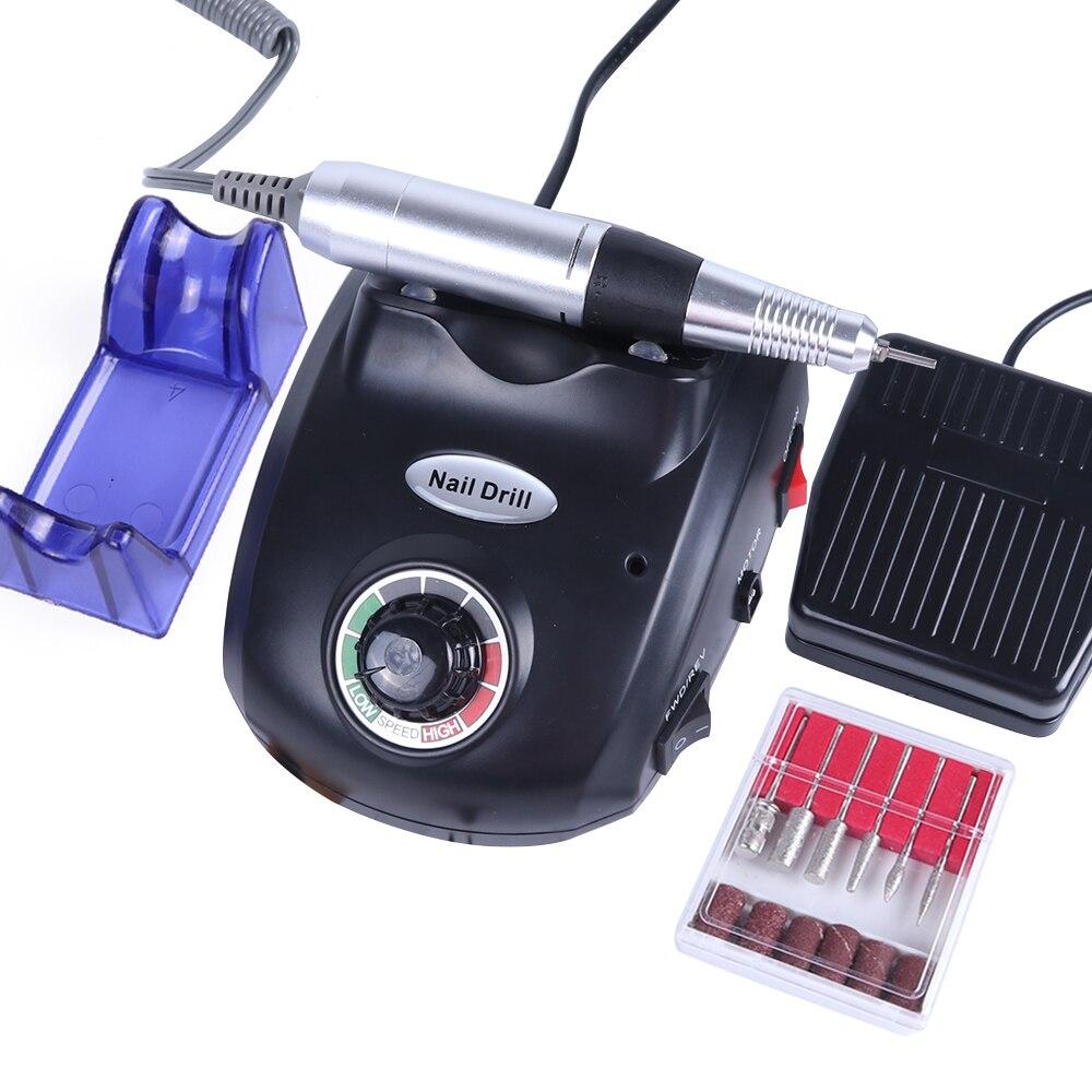 1 conjunto Fresa Machaine Perfeito para Manicure Elétrica Broca Nail Art Máquina Manicure Acessório Ferramenta Sander Polidor Moinho LA887
