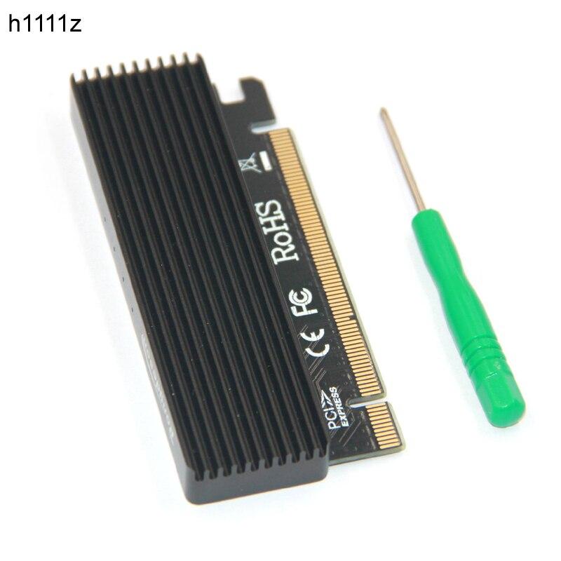 M.2 NVMe SSD NGFF À PCIE 3.0X16 Adaptateur avec LED Touche M Carte D'interface Support PCI Express 3.0x4 2230-2280 Taille m.2 PLEINE VITESSE