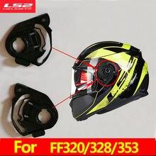 Base d'objectif de casque de moto, 1 paire de lunettes de protection à visière pour casque de moto LS2 d'alex barros, pour FF320 FF370 FF396