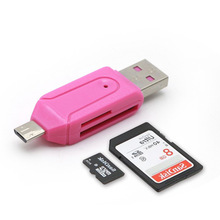 Micro USB Charger Converter 2 in 1 SD TF Card Reader OTG Adapter For Samsung Android Phones Computer