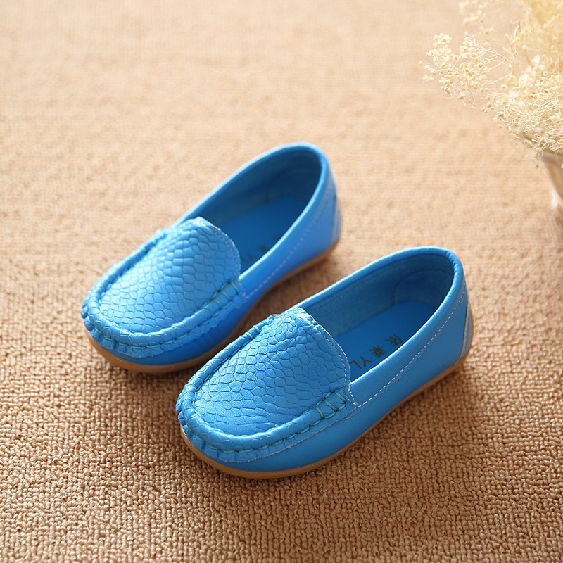 Children shoes brand spring autumn loafers shoes girls boys Non-slip tendon sneakers kids PU leather baby casual kids shoes21-30