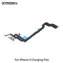 10pcs/lot For iPhone X iX Charger Charging Port USB Dock Connector Replacement Headphone Audio Jack Flex Cable цены