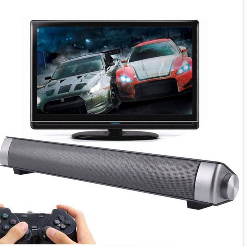 2*5W Bluetooth Speaker TV Sound Bar Wireless Hifi Subwoofer Speakers Laptop PC Sound Box For Mobile Phone Support TF Card