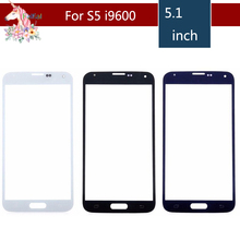 цена на 10pcs/lot For Samsung Galaxy S5 i9600 G900F G900H G900A G900 S5 mini G800F G800H G800 Front Outer Glass Lens Touch Screen Panel