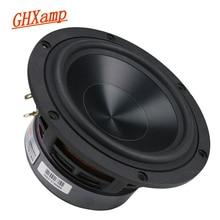 GHXAMP 5.25 Cal głośnik basowy 60W głośnik niskotonowy HiFi aluminium ceramiczne czarny diament obsada Booksheft kino domowe 55 HZ 3.2 KHz 4OHM