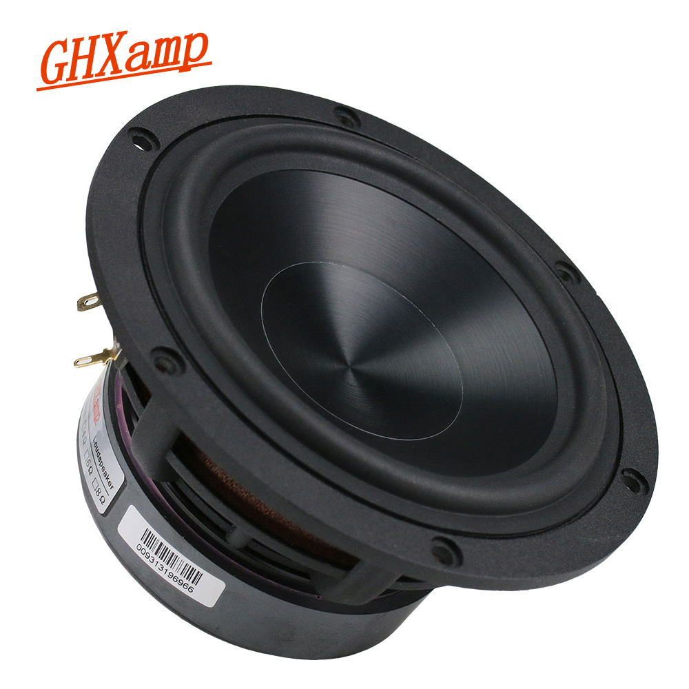 GHXAMP 5.25 Inch Bass Speaker 60W Woofer Unit HiFi Aluminum Ceramic Black Diamond Cast Booksheft Home Theater 55HZ-3.2KHzGHXAMP 5.25 Inch Bass Speaker 60W Woofer Unit HiFi Aluminum Ceramic Black Diamond Cast Booksheft Home Theater 55HZ-3.2KHz