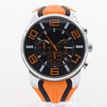 Naranja a prueba de agua reloj para hombre reloj de cuarzo reloj de pulsera para hombre top relojes de marca famosa topmerk original con precisión multifunción