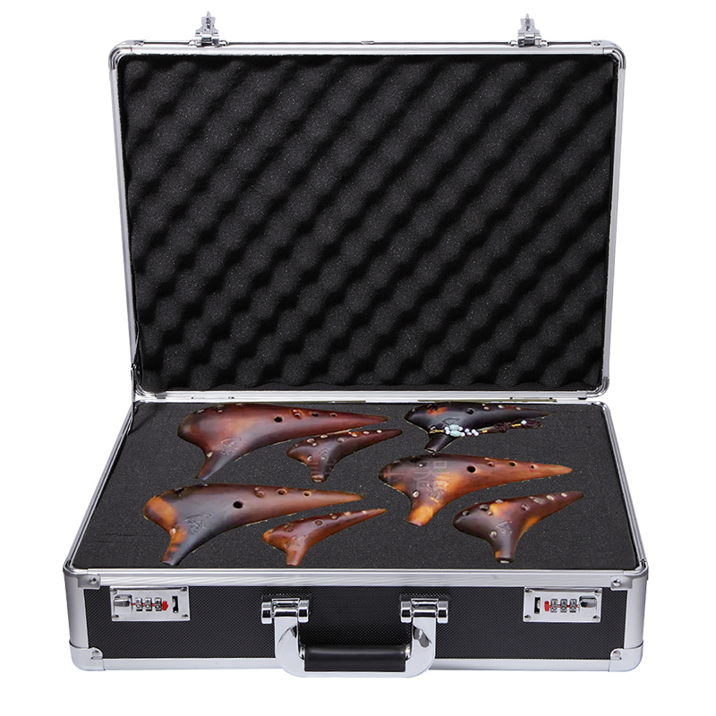 Waterproof Box With Foam Clipper Case Aluminium Framed Equipment Tool Handy Case Portable Carrier Container Toolbox