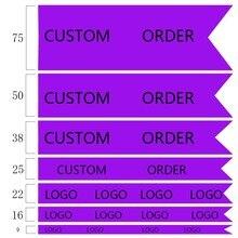 50/100 ярдов на заказ печатная 1 сторона шаблон атласная лента двойной и один Атлас OEM заказ