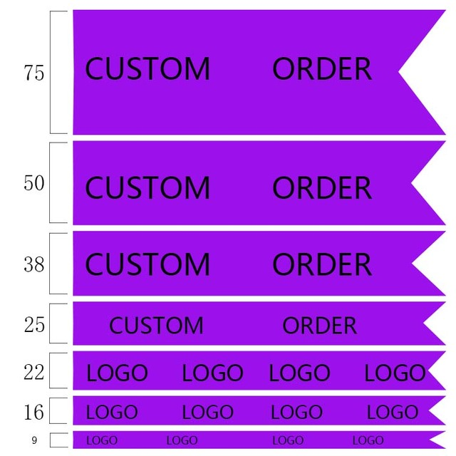 50/100 yards personnalisé imprimé 1 côté motif ruban de Satin double et simple Satin OEM commande
