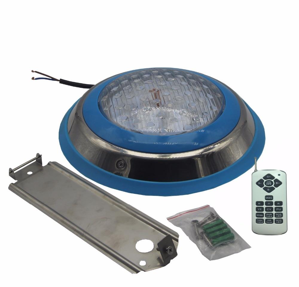 Ampoule de piscine pour piscine enterrée 12 V AC Surface sous-marine lumières 18 W 22 W 24 W 36 W 39 W Spa éclairage LED SS matériel