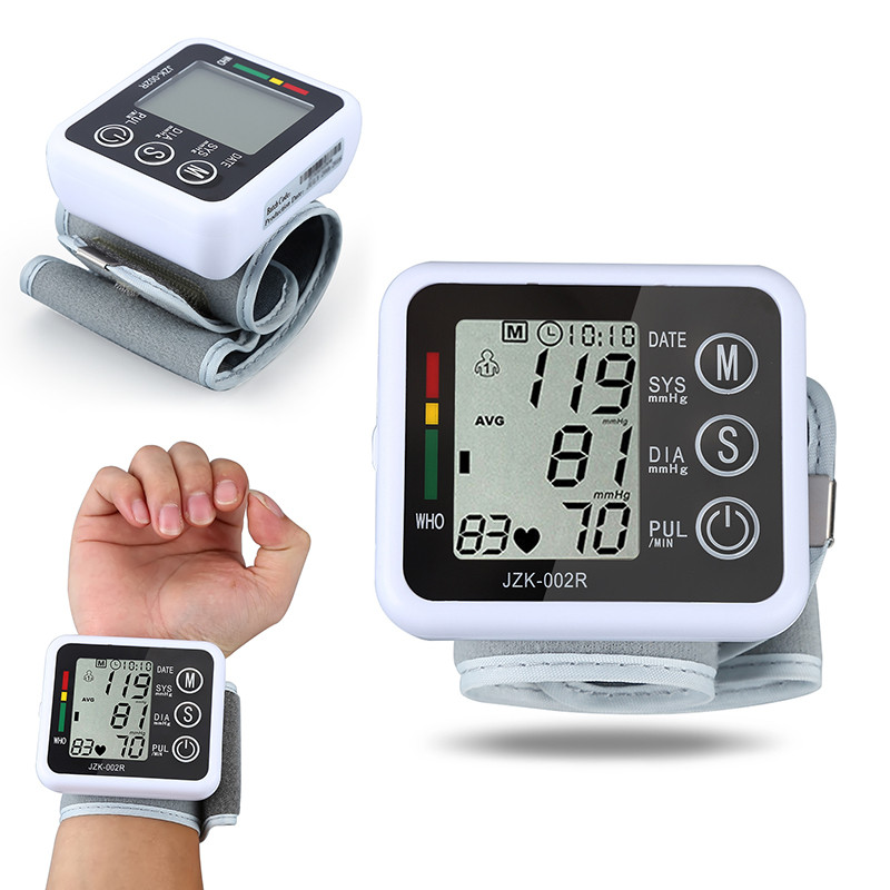 Digital LCD Wrist Blood Pressure Monitor Heart Beat Rate Pulse Meter Measure Household Health Care Device New With Cae JwXb 1