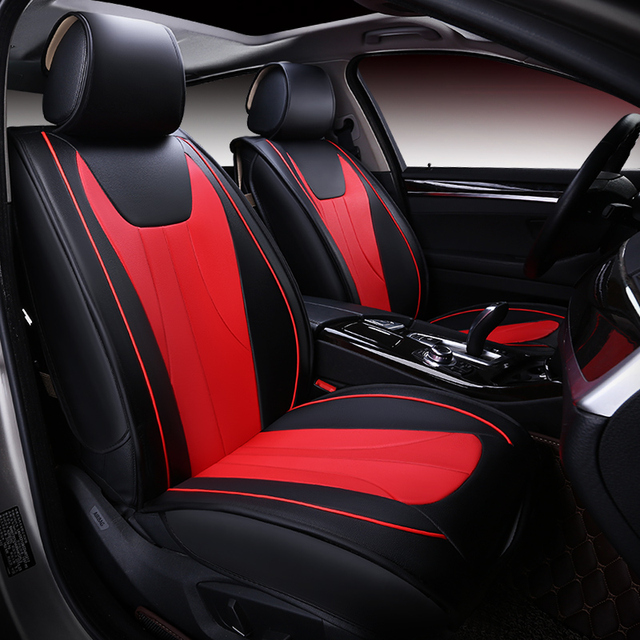 Car Seat Cover Auto Seats Covers Universal Leather For Ford Focus 1 2 3 Mk2 Mondeo 4 Mk3 Mk4 Kuga 2017 2010