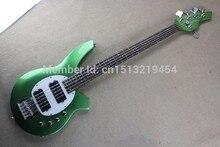 Hot Selling Active Pickup Musicman Bongo Light green 5 String Electric Bass Guitar Music Man Bass Free Shipping