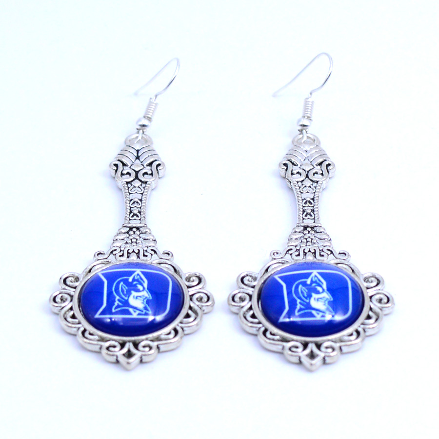 Earrings NCAA Duke Blue Devils Charms Dangle Earrings Sport Earrings Basketball Jewelry  ...