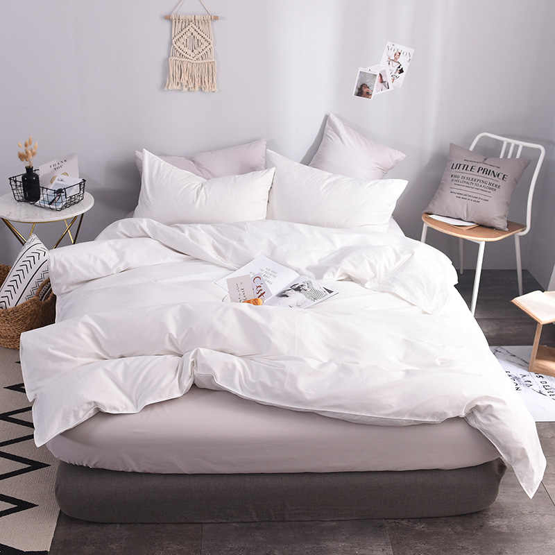 100 Cotton White Duvet Cover Super King Size Bed Quilt Cover Case