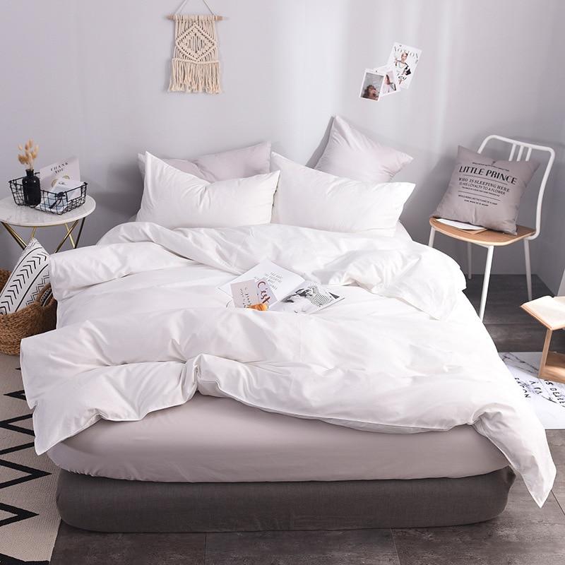 100% Cotton White Duvet Cover Super King Size Bed Quilt Cover Case Bedclothes Cotton Duvet Covers Housse De Couette 220x240 Cm