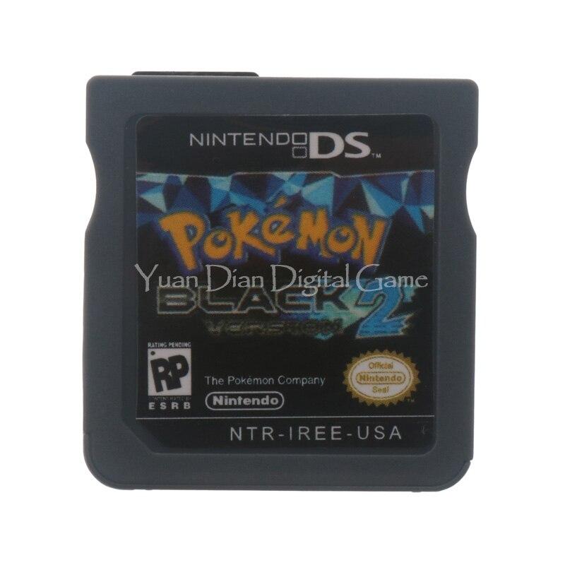 Nintendo NDS Video Spiel Patrone Konsole Karte Pokemon Serie Schwarz 2 USA...