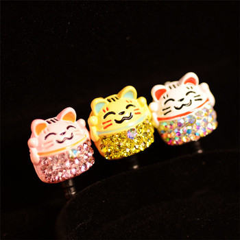 Lucky Cat Design Cute Cartoon Style Dust Plug Cell Phone Accessories For Iphone And All Normal 3.5mm Earphone Jack Plug