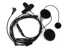 2 פינים אופנוע מלא פנים קסדת אוזניות למוטורולה ווקי טוקי נייד רדיו CP040 CP140 CP300 CP200 GP300 GP88S CLS1410