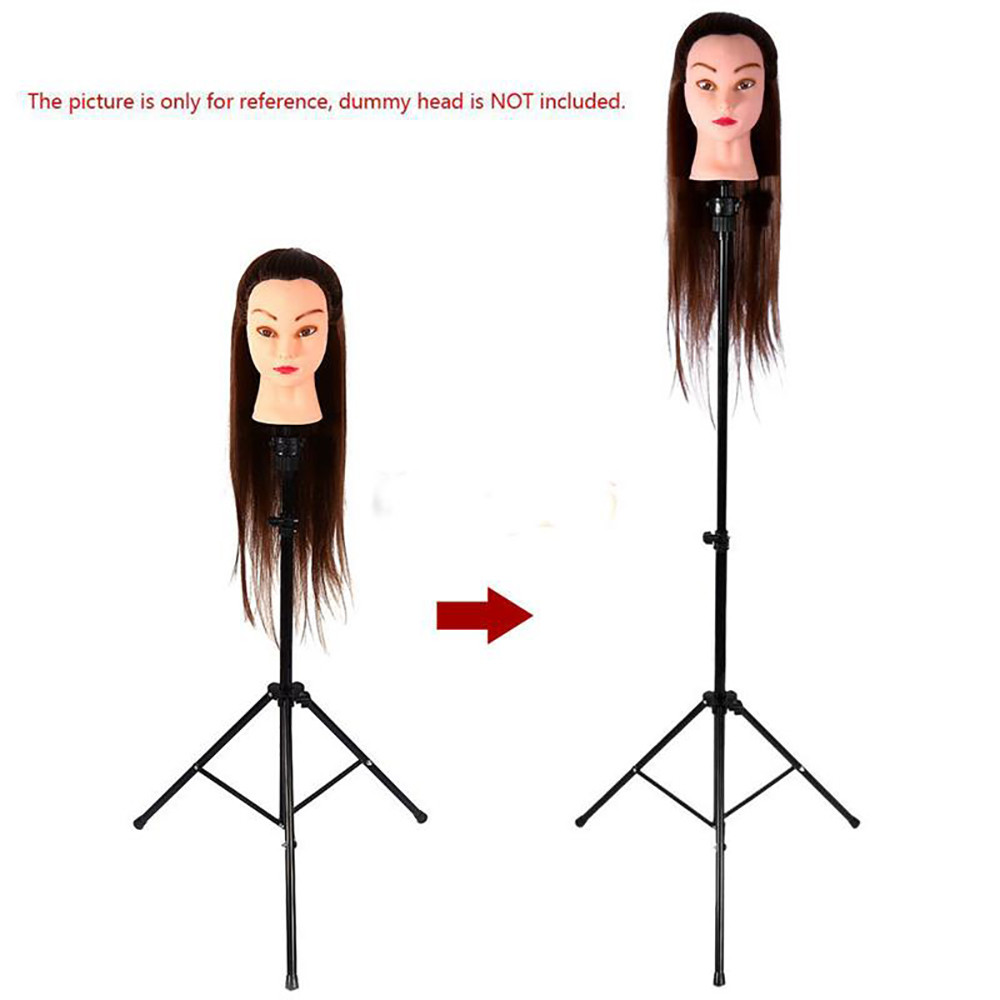 Adjustable tripod Wig Stand Mannequin Head Hairdressing Tripod for Wigs head stand Holder 2U81129