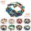 F&U Bohemia Style Rhinestone Clear Gem Crystal Bracelets Multilayer Chain Resin Bracelet Party Bracelet For Women#B421