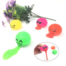 4PCS/2019 Hot Selling Squeeze Slime Vomit Egg Tricky Toy Emoji Egg Stress Squeeze Toy for kids(China)