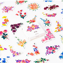 45pcs/pack Flowers Totem Memo Stickers Pack Posted It Kawaii Planner Scrapbooking Stickers Stationery Escolar School Supplies(China)