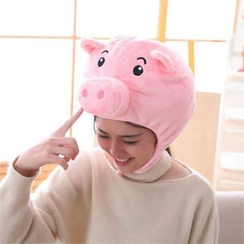 Плюшевая шапка Розовая свинка