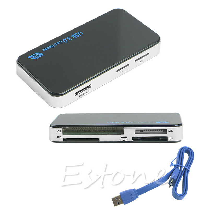 2018 High Quality Flat USB 3.0 Cable+ USB 3.0 All-in-1 Multi Memory Card Reader For SD X ...
