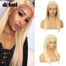 Debut 150% Density 613 Honey Blonde 13x6 Lace Front Wig Pre Plucked With Baby Hair Brazilian Remy Straight Human Wigs