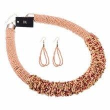 BK Many 12 Colors Fashion Jewelry Chain Resin Seed Beads Chunky Choker Statement Bib Necklace New