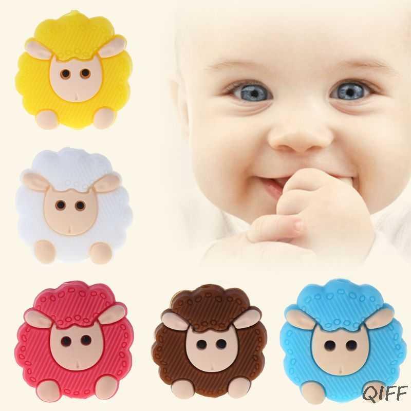 Chupete para bebé niño mordedor calmante niños niñas Linda oveja colorido diseño niños comodidad suministros