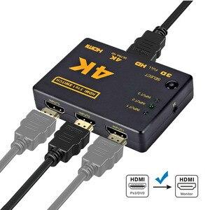 Image 2 - Rovtop Mini HDMI Switcher 4K HD1080P 3 5 Cổng HDMI Switch Phím Chọn Bộ Chia Với Trung Tâm Điều Khiển Từ Xa IR Cho HDTV DVD TV Box Z2