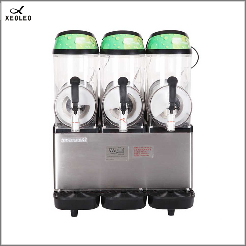 XEOLEO Three Tanks Slush Machine 12L*3 Commercial Fully-automatic Snow Melting Machine With Big Capacity 220V Cold Drink Maker