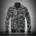 2016 Весной бренд Камуфляж мужские Куртки Твердые Мода Пальто Мужчина Случайно Тонкий Стенд Воротник Куртки Мужчины Пальто одежда