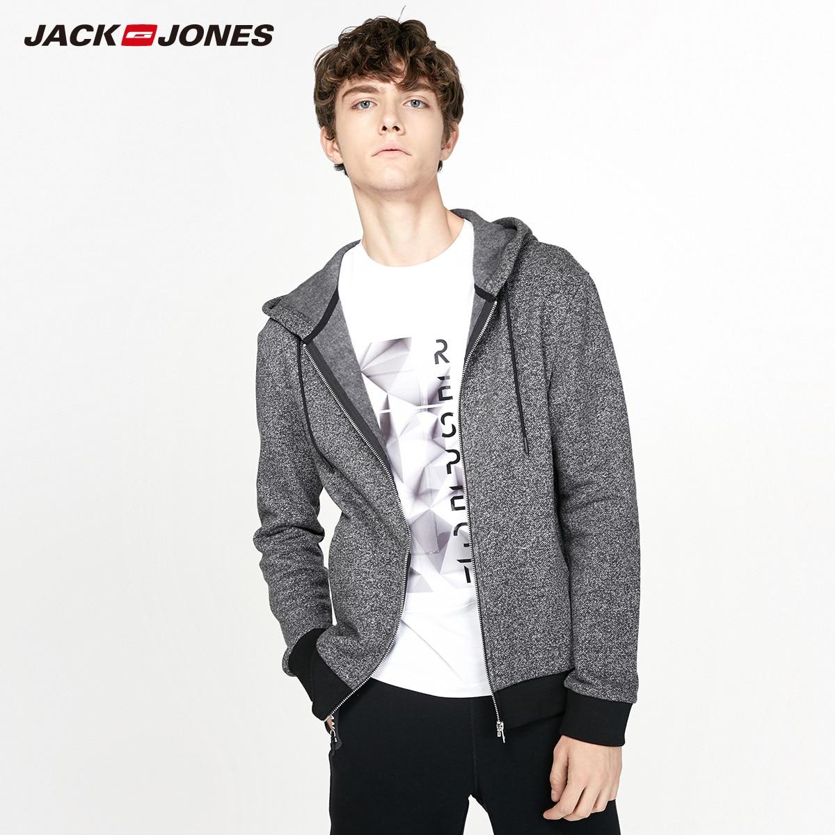 JackJones hombres chaqueta de Sudadera con capucha chaqueta de lana de los hombres sudaderas con capucha prendas de vestir exteriores 2019 marca nueva moda ropa 218333517