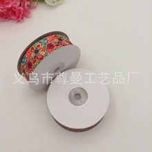 DIY Material Width 2.5cm Webbing Ribbon Digital Printing Thermal Transfer Sublimation Line Sunflower Series Pattern