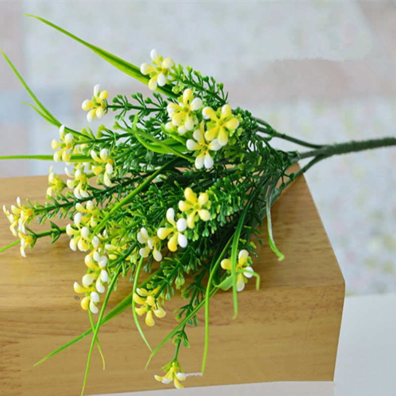 Plastic Artificial Flower Wedding Home Decorative Colorful For Decorations Real Touch Fake Flowers Plants Gr In Dried From