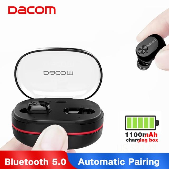 Dacom K6H Pro Bluetooth 5.0 Earphone Wireless Headphones Buds TWS True Wireless Earbuds Earphones Mini Twins Headset PK i10 Tws