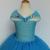 Azul Chica Cenicienta Vestido de Lentejuelas de Tul Mariposa Princesa Cabritos Del Vestido Del Tutú Fiesta de Cumpleaños de Halloween Cosplay Trajes de Cenicienta