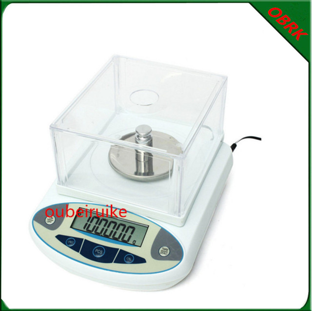LCD Display 0.001g Precision Electronic Analytical Balance Scales Lab Analytical Balance With Wind Cap