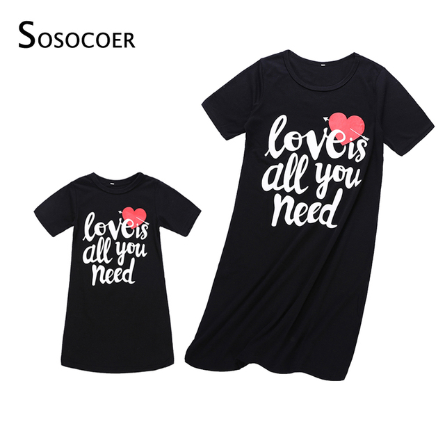 e3c557d35 SOSOCOER Mother Daughter Dresses Summer Mom and Daughter Dress Family Look  Matching Clothes Outfits Mother and Daughter Clothes
