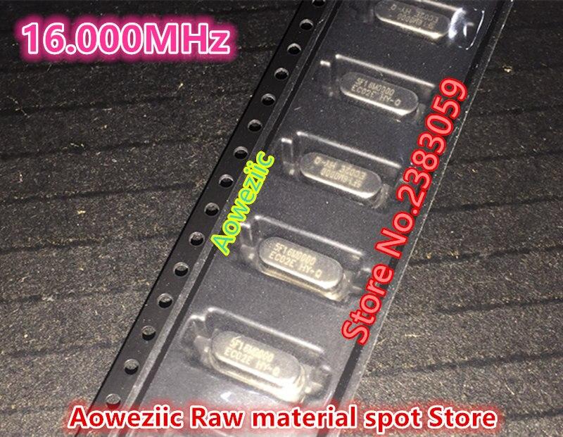 (100 PCS) 100% new original Passive SMD crystal oscillator  16MHZ, 16.000MHZ  16M  49SMD quartz crystal  2 feet HC-49SMD 100