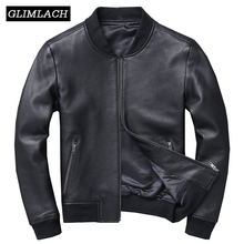 Autumn Genuine Leather Large Size Aviation Flight Pilot Leather Jacket