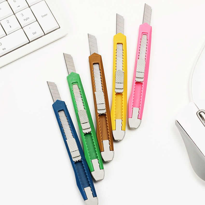 1 PC 小さなユーティリティナイフ裁断紙カミソリ刃オフィス文具スクールサプライ色ランダム