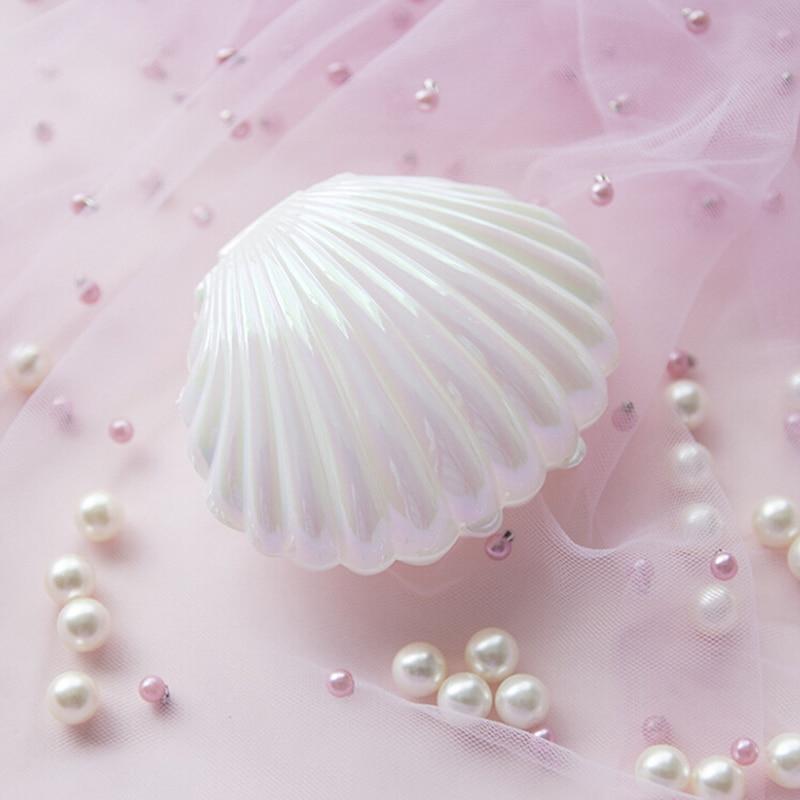 2018 Romantic Shell Shape Lovely Wedding Engagement Ring Box Earrings Necklace Bracelet Jewelry Display Gift Holder Beauty