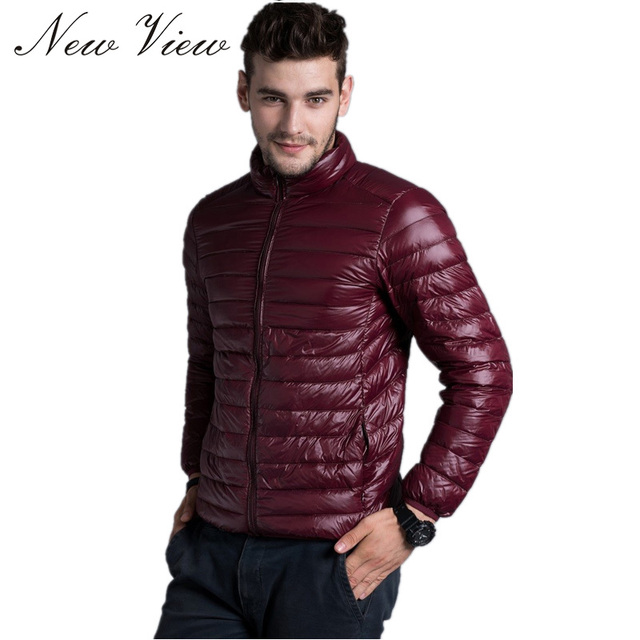 2016 New Arrival Men Down Jacket Winter Stand Collar Casual Warm Coat White Duck Down Outerwear Parka Fashion 5 Color Large Size